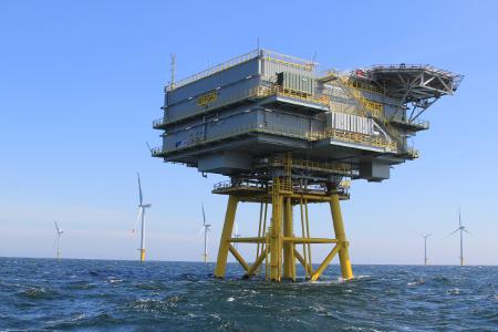 Offshore-Windpark Riffgat, Quelle: ©EWE/ Kurt-Walter Wessolek