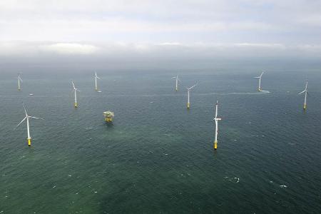 Luftbild Offshore-Windpark Riffgatt, Quelle: ©EWE