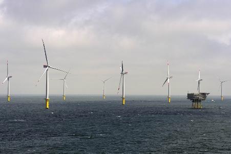 Offshore-Windpark Riffgat, Quelle: ©EWE