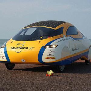 Zweisitziges Solarmobil aus Bochum bei der WSC 2011
