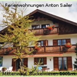 Ferienwohnungen Anton Sailer, Mittenwald