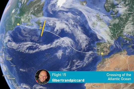 Flugroute Atlantikquerung